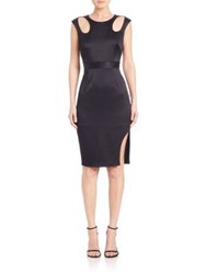 Abs By Allen Schwartz Satin Cutout Detail Dress Black