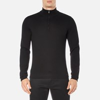 Hugo Men's San Gottardo Quarter Zip Jumper Black