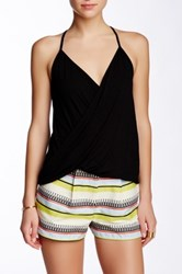 Weston Wear Kelsi Surplice T Back Tank Black