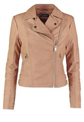 Miss Selfridge Faux Leather Jacket Brown Light Brown