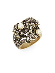 Heidi Daus Sea Fistication Swarovski Crystal Starfish Ring Gold