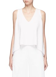 Helen Lee Rib Knit Tank Top White