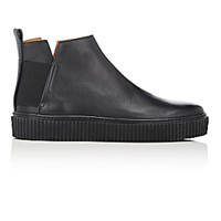 Barneys New York Men's Creeper Sole Jodhpur Boots Black Blue Black Blue