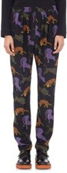 Stella Mccartney Cat Print Harem Pants Colorless