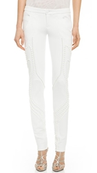 Jay Ahr Embellished Skinny Pants White