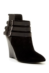 Joe's Jeans Belong Ankle Wedge Boot Black