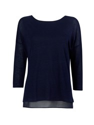 Wallis Navy Knitted Top