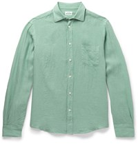Hartford Linen Shirt Green
