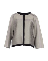Alberta Ferretti Blazers Light Grey