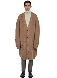 J.W.Anderson Mid Length Oversized Laddered Cardigan Beige