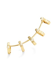 Catherine Stein Beaded Single Ear Climber Gold
