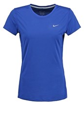 Nike Performance Miler Sports Shirt Deep Royal Blue Reflective Silver