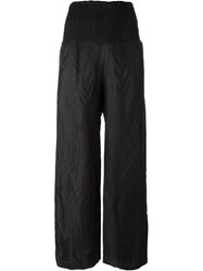 Simona Tagliaferri Textured Trousers Black