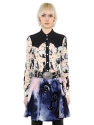 Fausto Puglisi Horses Print Silk Blend Georgette Shirt