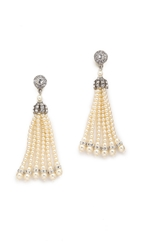 Ben Amun Imitation Pearl Tassel Earrings