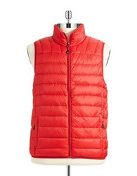 Hawke And Co Packable Puffer Vest Red