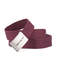 Carhartt Burgundy Chrome Clip Belt