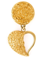 Yves Saint Laurent Vintage Broken Heart Earrings