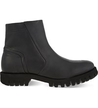 Diesel D Sherlok Leather Boots Black