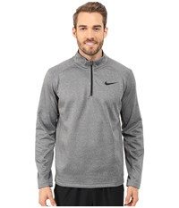 Nike Ko 1 4 Zip Top Charcoal Heather Charcoal Heather Black Men's Workout Gray