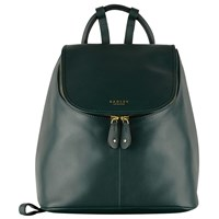 Radley Taplow Medium Leather Backpack Green