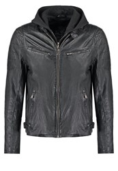 Gipsy Riley Leather Jacket Schwarz Black