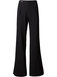 Halston Heritage Wide Leg Trousers Black