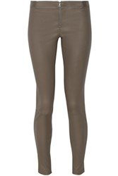 Alice Olivia Leather Leggings Dark Gray