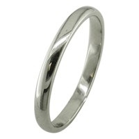 Ewa Platinum 2.5Mm Court Wedding Ring Platinum