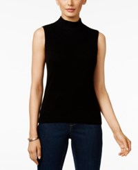 Charter Club Cashmere Mock Turtleneck Shell Only At Macy's Classic Black