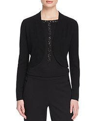 Magaschoni Silk Cashmere Shrug Cardigan Black