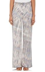 Raquel Allegra Women's Tie Dyed Silk Wide Leg Pants Brown