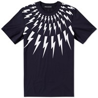 Neil Barrett Fair Isle Bolt Tee Blue