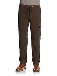 7 For All Mankind Knit Cargo Pants Army Green