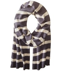 Hat Attack Stripe Scarf Grey Wheat Scarves Brown