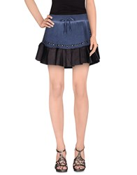 Odi Et Amo Skirts Mini Skirts Women Slate Blue