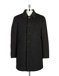 Lauren Ralph Lauren Wool Blend Overcoat Black