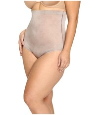 Spanx Plus Size Pretty Smart High Waisted Brief Lace Taupe Women's Underwear