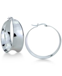 Giani Bernini Sculptural Polished Hoop Earrings In Sterling Silver Only At Macy's