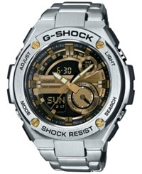 G Shock Men's Analog Digital Silver Tone Resin Bracelet Watch 59X52mm Gst210d 9A