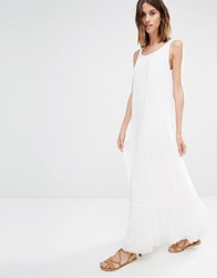 Vila Lace Crochet Detail Maxi Dress Snow White