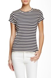 J.Mclaughlin Madeline Short Sleeve Stripe Tee Multi
