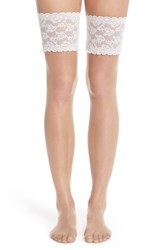 Women's Charnos Lace Stay Up Thigh High Stockings Champagne Ivory