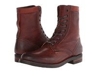 Frye Engineer Tall Lace Redwood Oiled Leather Men's Work Lace Up Boots Brown