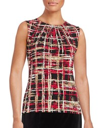Calvin Klein Abstract Print Shell Red