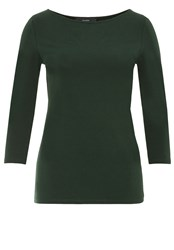 Hallhuber Jersey Boatneck Long Sleeve Green