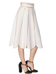 Salvatore Ferragamo Zippered Double Wool And Cashmere Skirt