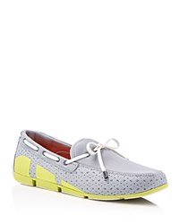 Swims Breeze Mesh Loafers Gray Lime