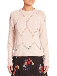 Tanya Taylor Ladder Knit Wool And Silk Sweater Shell