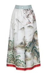 For Restless Sleepers Iperione Wide Leg Pants White Grey Pink